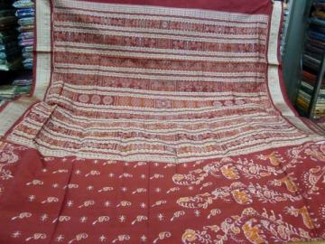 Animal Motif Traditional aanchal beautiful Odisha Handloom Saree