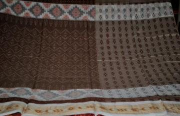 Traditional all over Ikat work Odisha Handloom Cotton Saree without Blouse Piece