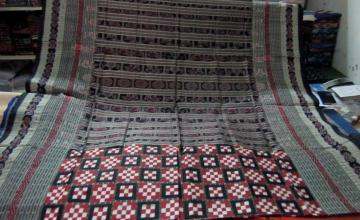 Traditional Thick Border Animal Motif Anchal Pasapalli Saree With Blouse Piece In Discounted Price