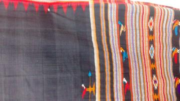 Thick Pure Cotton Siminoi Tribal Saree In Black