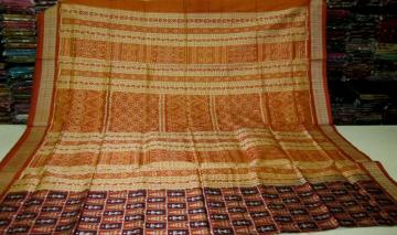Tribal Work Hand Woven Silk Saree With Blouse Piece