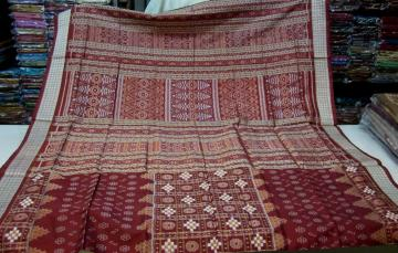 Maroon Rust Pasapalli n Traditional Motif Silk Saree with Blouse Piece