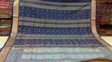 All Over Body and aanchal Ikat work SIlk Saree with Blouse piece