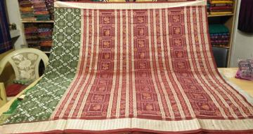 Green Maroon Pasapalli Silk Saree