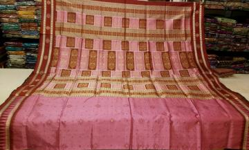 Beautiful Bomkai Silk Saree with Blouse Piece