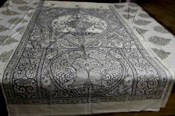 Inspired from Palm leaf engraving artists creation on Silk Saree
