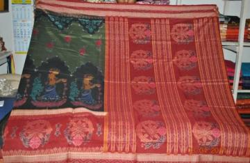 Orissa handloom Traditional design cotton saree