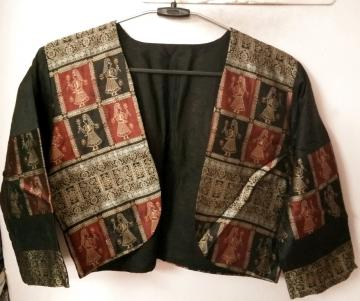 Doll Motifs Silk Jacket