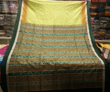 Exclusively Woven Beautiful Bomkai Saree with Blouse Piece