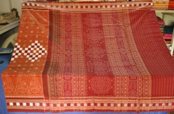 Orissa Handloom Body Pasapalli - Ikat Pure Cotton Saree
