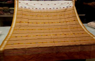 Master Wevaer s Creation SIminoi Inspired Tribal Bomkai Silk Saree with Blouse Piece