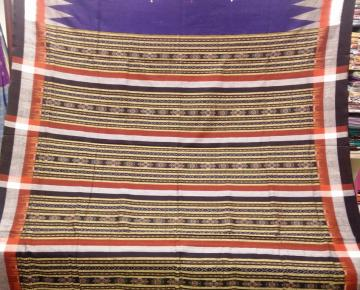 Traditional Ikat weaving work Cotton Saree with Blouse Piece