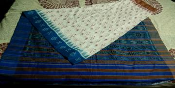 Ganga Jamuna Border All over Ikat Cotton Saree without Blouse Piece
