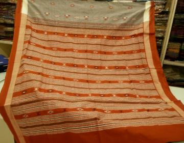 Tribal Bomkai Handwoven Cotton Saree with Blouse Piece
