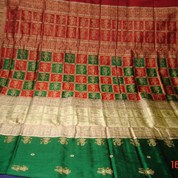 Odishi Handloom Bomkai Doll design Saree-2