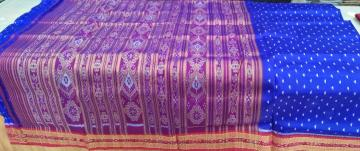 Beautiful Handwoven Khandua Saree in Silk without Blouse Piece