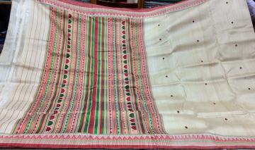 Exclusively Woven Dongria Saree in Tasar with Blouse Piece
