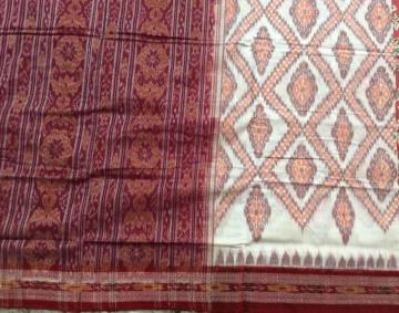 All over ikat Traditional cotton Saree without Blouse piece