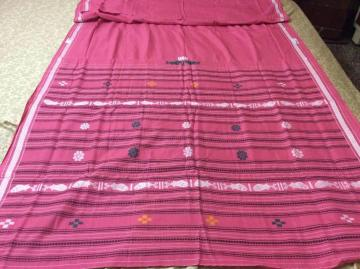 Pink dhalapathar cotton Saree