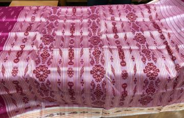 Traditional all over ikat Khandua Silk Saree without blouse