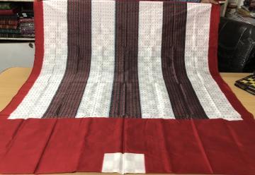 Master Weaver S Creation check box Ikat Silk Saree with Blouse Piece