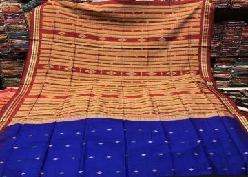Siminoi Inspired Bomkai Silk Saree with All over Blouse Work Silk Saree
