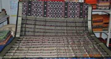 Orissa Handloom Pasapalli Ikat and Bomkai Saree