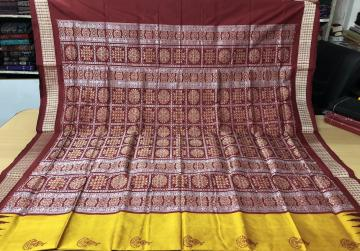 Beautiful Traditional Motifs Silk Bomkai Saree with Blouse Piece