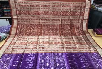 Ikat Tribal Motif Pasapalli Silk Saree with Blouse Piece