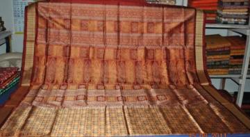 Orissa Handloom Rich Bomkai work on Body and anchal Saree Sari