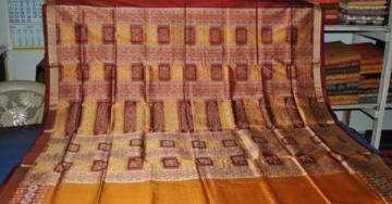 Orissa handloom Rich Bomkai Border and Aanchal Designer Saree Sari