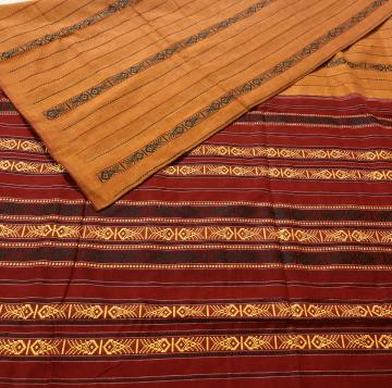 All Over Fish Motifs Handwoven Cotton Saree without Blouse Piece