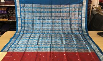 Exclusively Woven Ganga Jamuna Border Bomkai Silk Saree with Blouse Piece