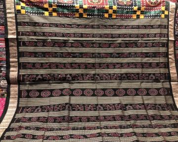 Exclusively Woven Utkallaxmi Ikat Silk Saree with Blouse Piece