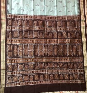 Beautiful Traditional Bomkai Silk Saree with Blouse Piece