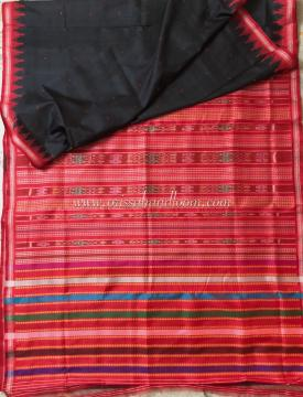 Double Aanchal and Phoda Kumbha Border Berhumpuri Silk Saree with Blouse Piece