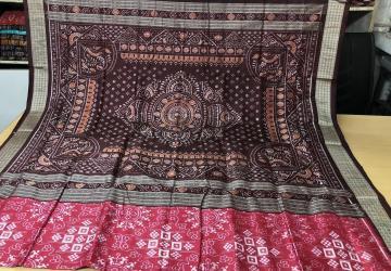 Tribal Motifs Traditional Aanchal Pink Pasapalli Silk Saree with Blouse piece