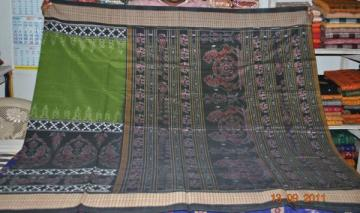 Orissa Handloom Traditional Ikat Design Saree