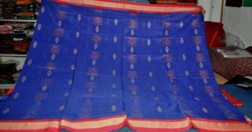Orissa handloom Ikat work Body with Bomkai Work Aanchal Designer Saree Sari