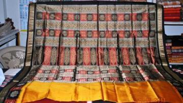 Orissa handloom Rich Bomkai Border and Aanchal Designer Saree Sari