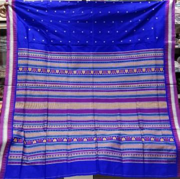 Exclusively Woven Dongria Silk Saree with Blouse piece