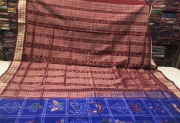 Most Awaited Nabakothi Sambalpuri Silk Saree with Blouse Piece