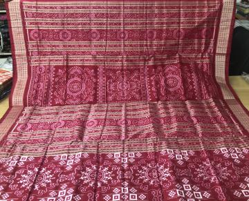 Beautiful Hand woven Tribal Motifs Pasapalli Silk Saree with Blouse Piece