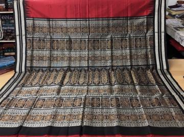 Traditional Bomkai Saree in Silk with Blouse Piece