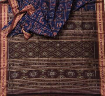 Exclusively Woven Sambalpuri Nabakothi Saree in Cotton with Blouse Piece