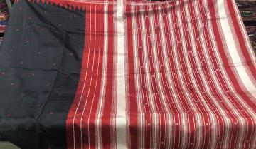 Traditional Berhampuri  Silk Saree with Blouse Piece