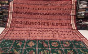 Exclusively Woven Sambalpuri Ikat Silk Saree with Blouse Saree