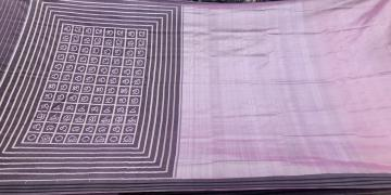Award Winning Master Weaver S Exclusively Woven Odiya Alphabets Half and Half Silk Saree with Blouse