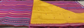 Exquisite Double Pallu Berhampuri Silk Saree with Blouse Piece