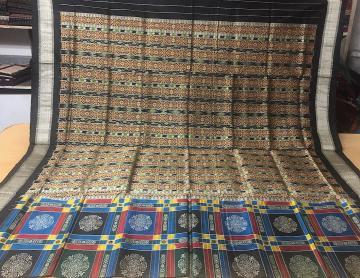 Utkallaxmi Inspired Bomkai Silk Saree with Blouse Piece